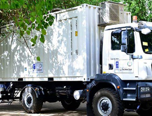 UNDP & GFATM launch the use of Delft Mobile Clinics